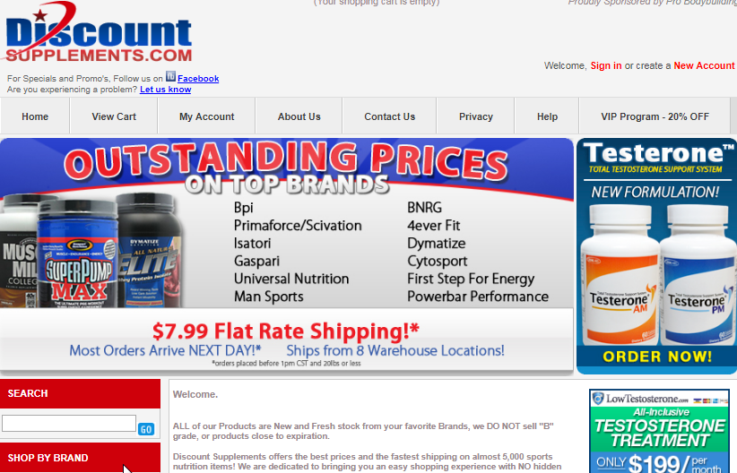 DiscountSupplements shop