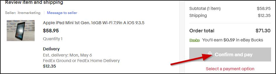 различие в методе покупки на ebay