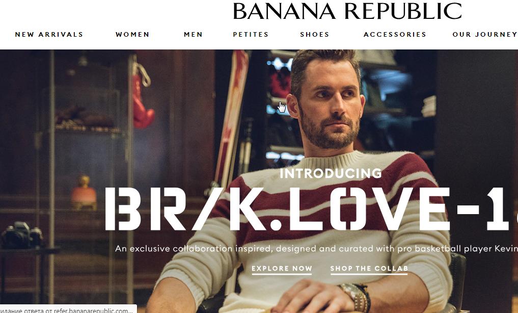 Banana Republic сайт интернет-магазина
