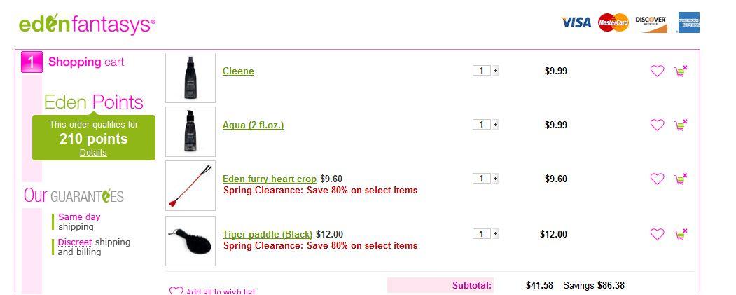 EdenFantasys интернет магазин скидки на вебраторы