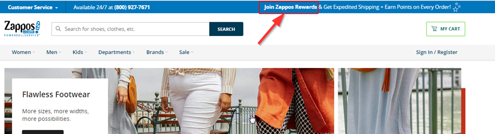 Join Zappos регистрация на сайте магазина
