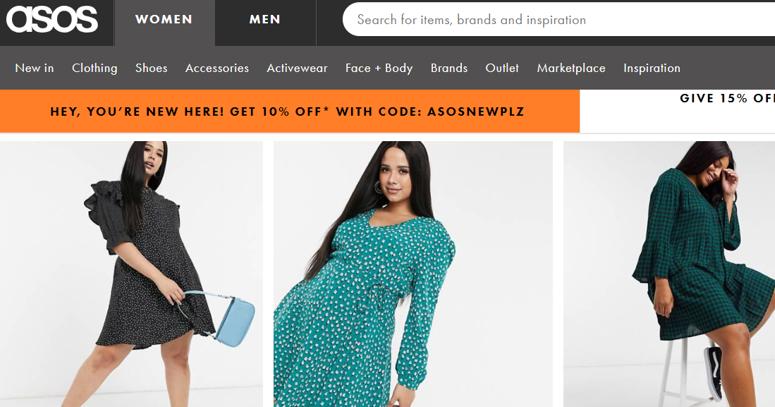 ASOS магазин модной одежды