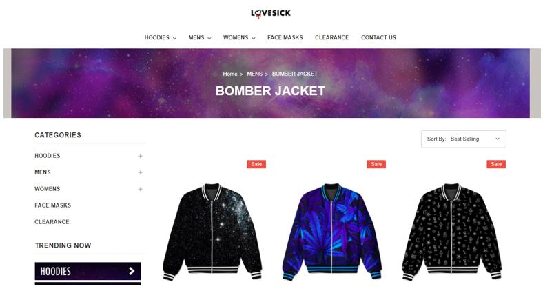 Lovesick  сайт  одежды