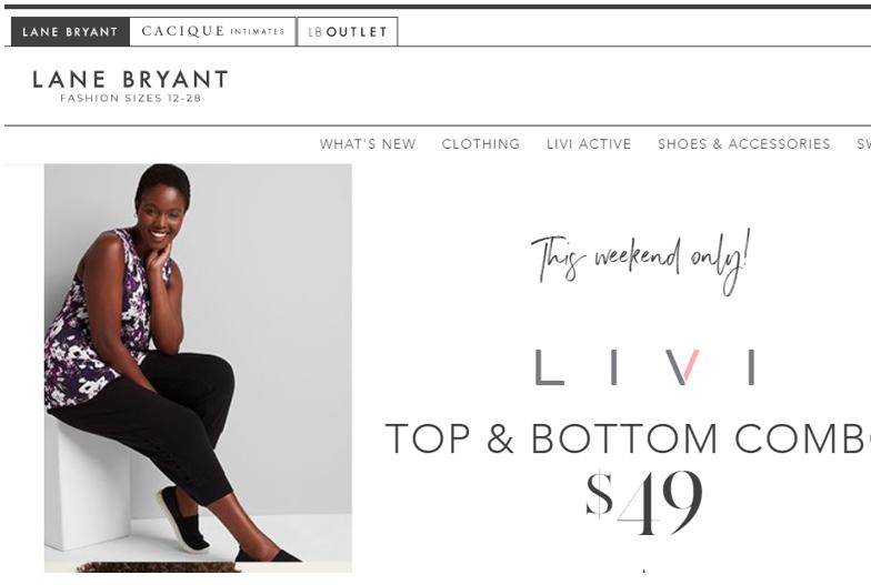 lanebryant сайт одежды